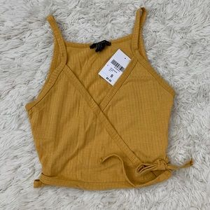 Forever 21 Ribbed Wrap Crop Top